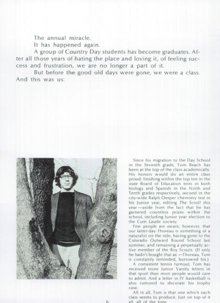 1973 Cincinnati Country Day Yearbook Page 8
