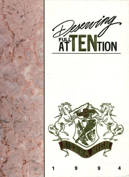 1994 Sierra High School Yearbook Cover