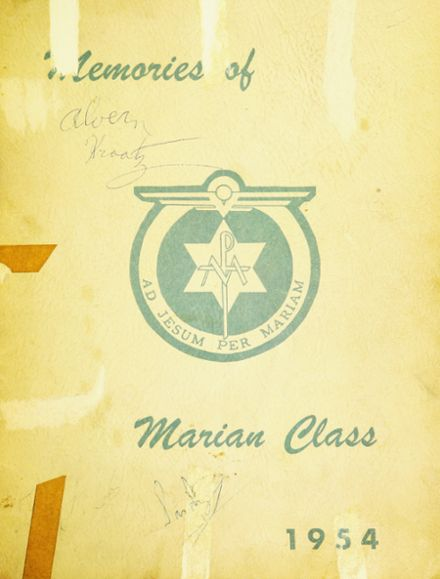 1954 St. Dominic's High School Yearbook Cover