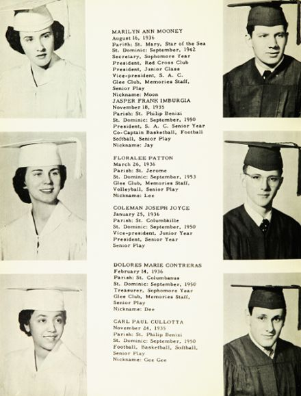 explore 1954 st dominic s high school yearbook chicago il