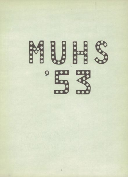 1953 Monterey High School Yearbook Page 9