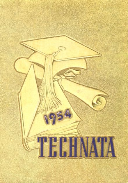 1954 Girl's Trade & Tech High School Yearbook Cover