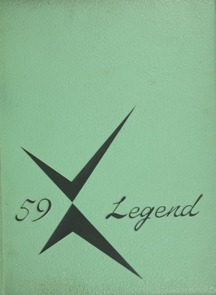 1959 Santa Fe High School Yearbook Cover