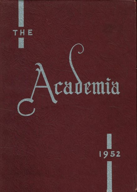 1952 St. Joseph's Academy Yearbook Cover