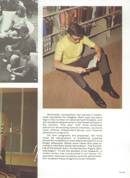 1969 Cleveland Heights High School Yearbook Page 9