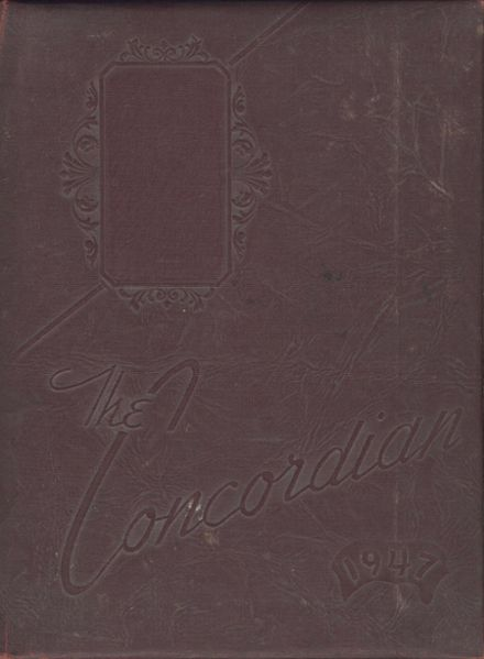 1947 Concord High School Yearbook Cover