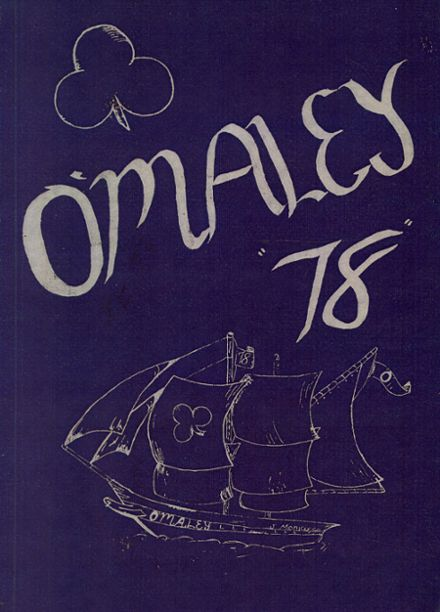 1978 Ralph B. O'Maley Middle School Yearbook Cover