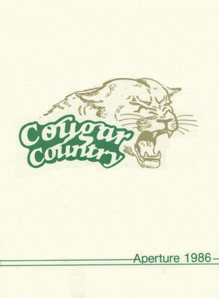 1986 Westland High School Yearbook Cover