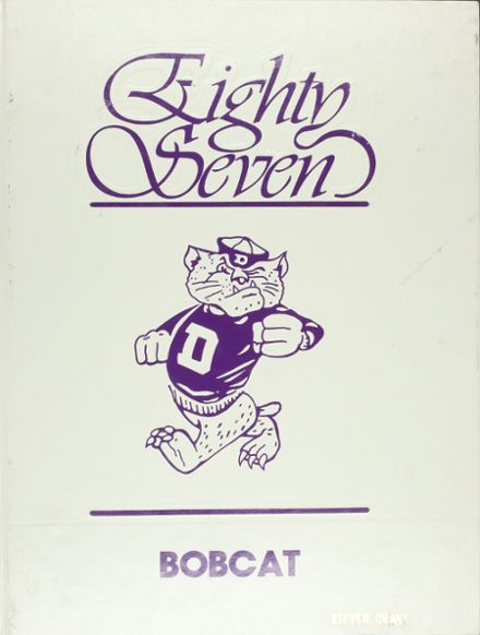 1987 Dumas High School Yearbook Cover