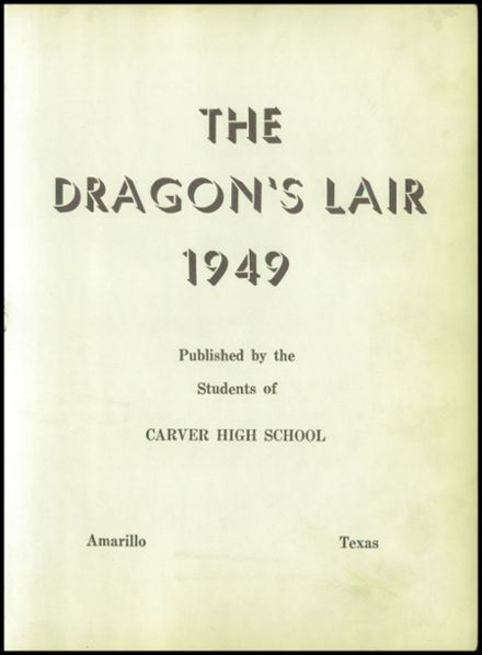 ... 1949 Carver High School Yearbook Page 7