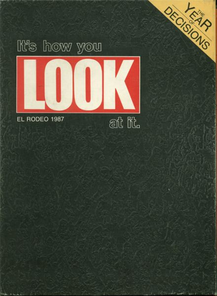 1987 Merced High School Yearbook Cover