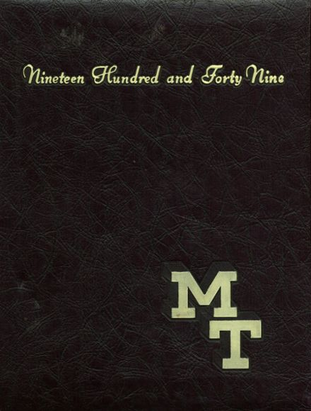 1949 Mt. St. Joseph High School Yearbook Cover