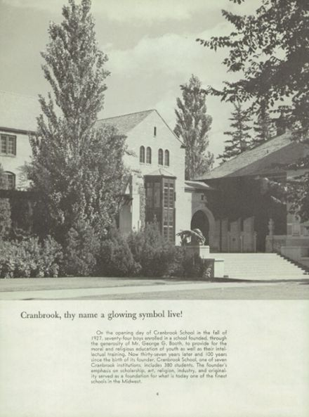 1965 Cranbrook School Yearbook Page 8