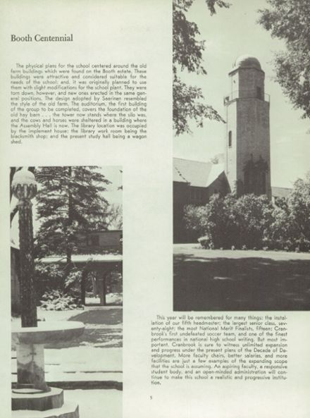 1965 Cranbrook School Yearbook Page 9