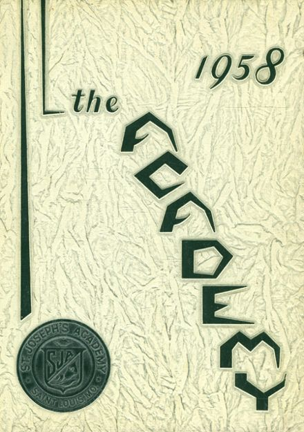 1958 St. Joseph's Academy Yearbook Cover