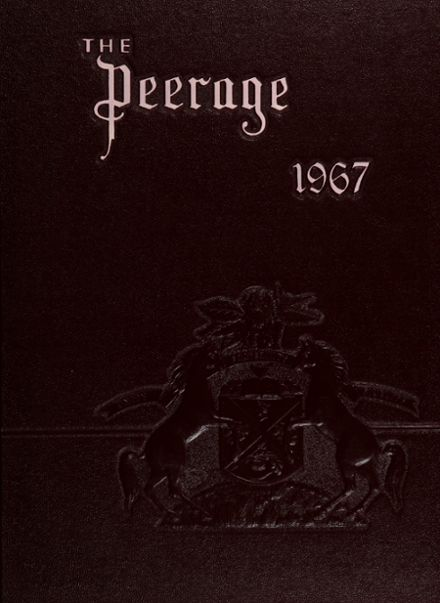 1967 Princess Anne High School Yearbook Cover