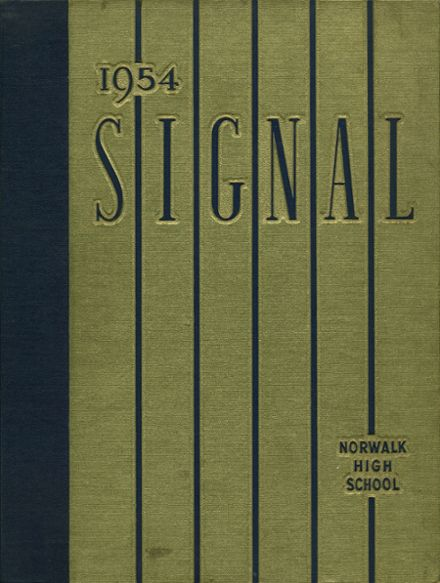 1954 Norwalk High School Yearbook Cover