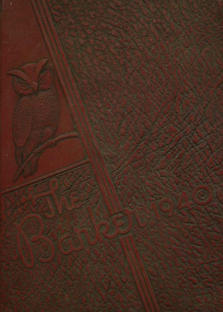 1940 Bradford High School Yearbook Cover