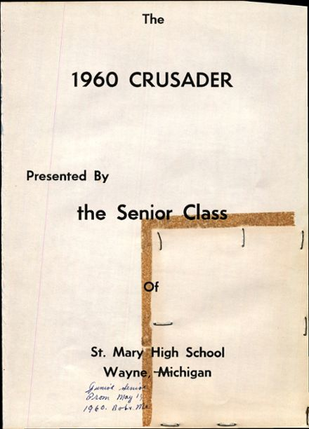 1960 St. Mary's High School Yearbook Page 5