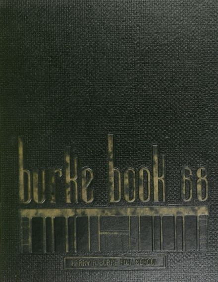 1968 Burke High School Yearbook Cover