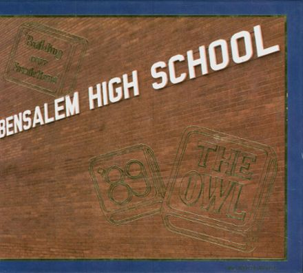 1989 Bensalem High School Yearbook Cover