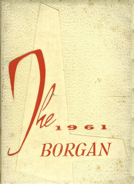 1961 Borger High School Yearbook Cover