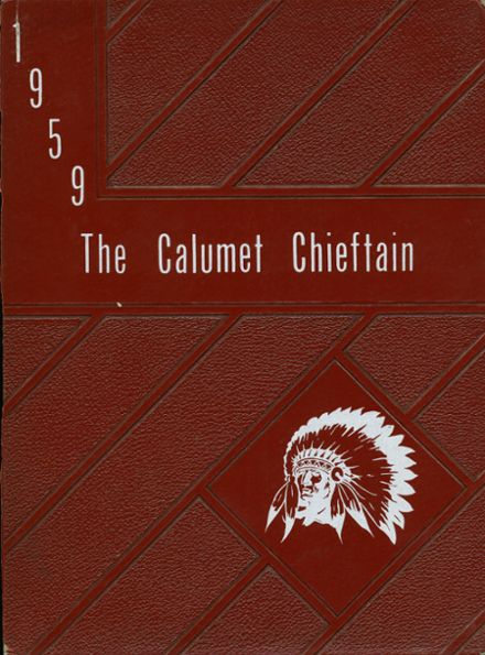 1959 Calumet High School Yearbook Cover