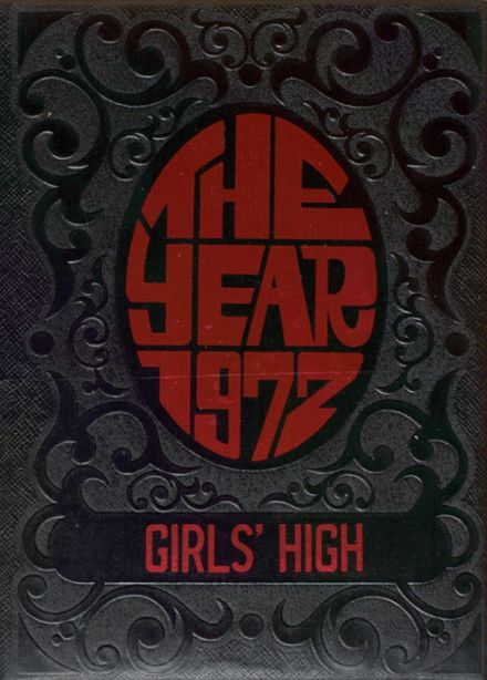1972 Girls' High School Yearbook Cover
