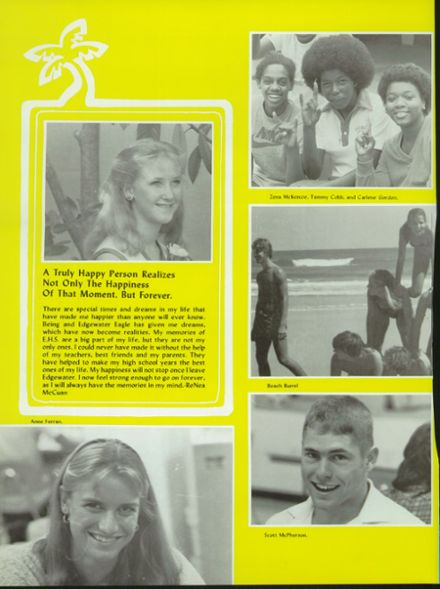1981 Edgewater High School Yearbook Page 8