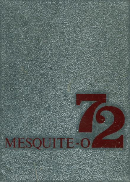 1972 Mesquite High School Yearbook Cover