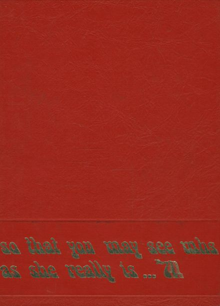 1971 Mcpherson High School Yearbook Cover