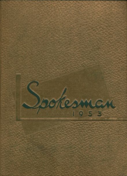 1953 Strong Vincent High School Yearbook Cover