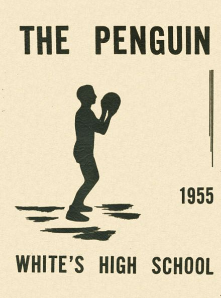 1955 White's High School Yearbook Cover