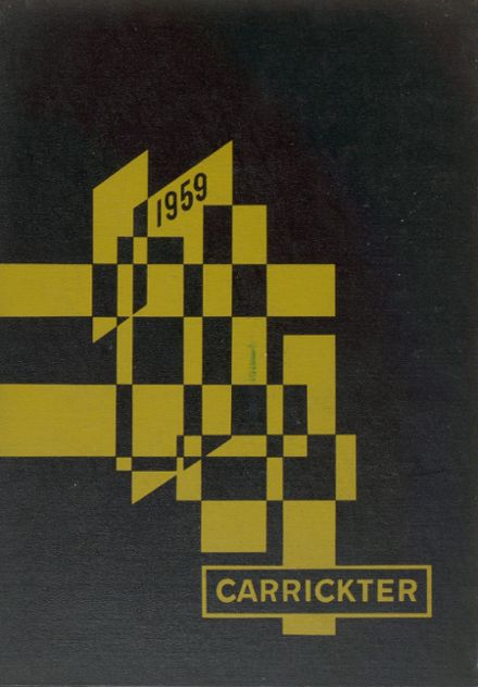 1959 Carrick High School Yearbook Cover