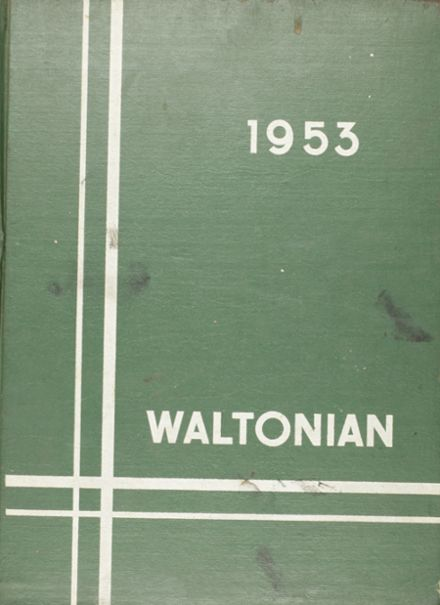 1953 Walton High School Yearbook Cover