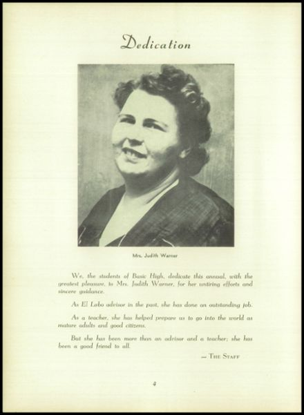 1955 Basic High School Yearbook Page 8