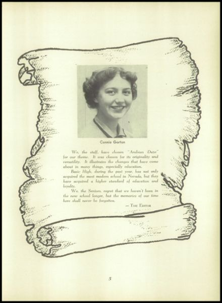 1955 Basic High School Yearbook Page 9