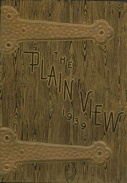 1939 Plainview High School Yearbook Cover