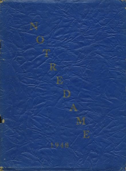 1948 Notre Dame High School Yearbook Cover