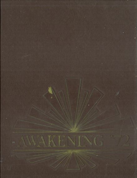 1972 Waldwick High School Yearbook Cover
