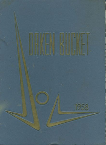 1958 Oakland High School Yearbook Cover