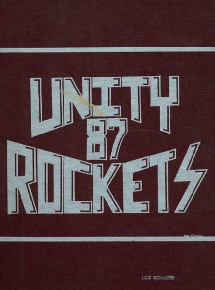 1987 Unity High School Yearbook Cover