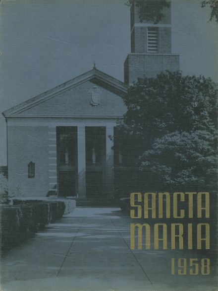 1958 St. Mary's High School Yearbook Cover
