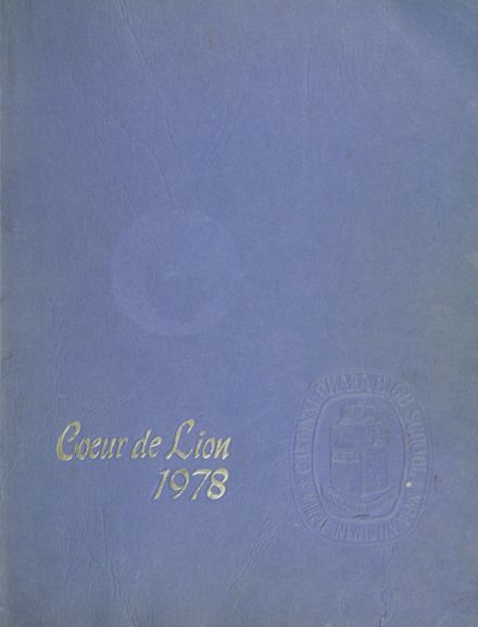 1978 Cardinal O'Hara High School Yearbook Cover