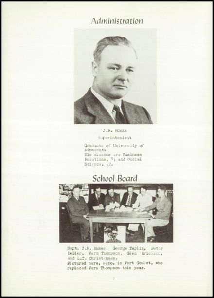 1951 Hancock High School Yearbook Page 6