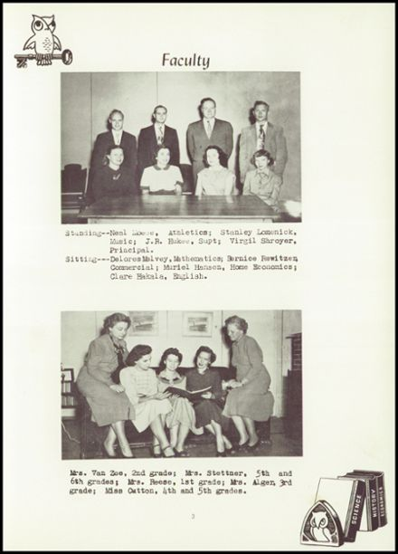 1951 Hancock High School Yearbook Page 9