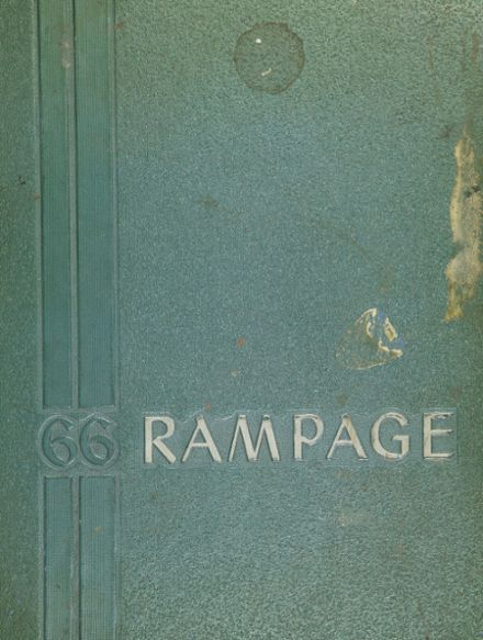 1966 Taylor Center High School Yearbook Cover