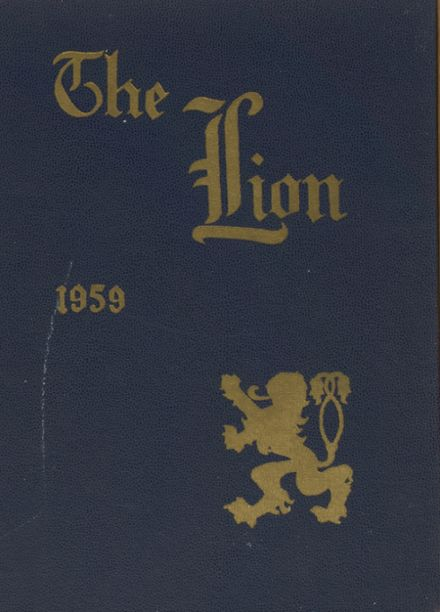 1959 St. Mark's High School Yearbook Cover