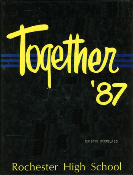 1987 Rochester High School Yearbook Cover