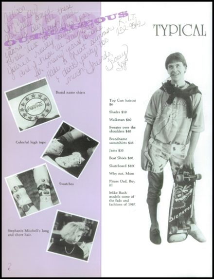 1987 Thornton High School Yearbook Page 8